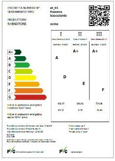 Serramenti PVC con label energetico. - Risposta Serramenti