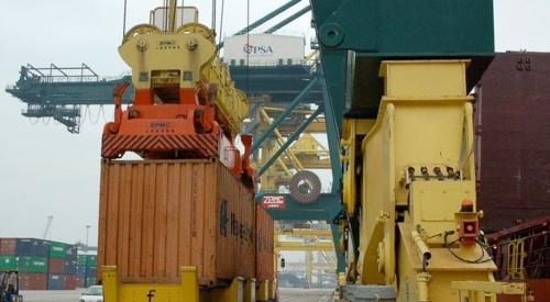 container scaricamento