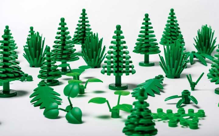 Lego elementi polietilene verde