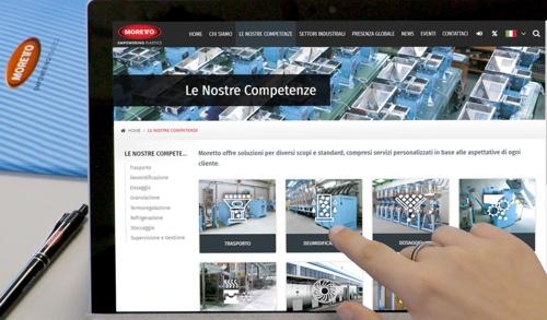 nuovo sito web Moretto