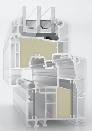 serrament Aluplast con inserto espano
