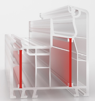 sezione profilo PVC aluplast
