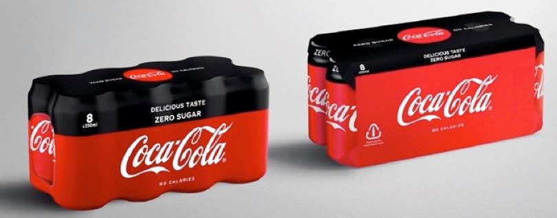 coca-cola multipack cartone palstica