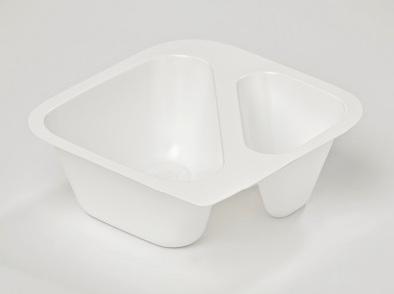 vaschette yoghurt con PS 50% da riciclo chimico