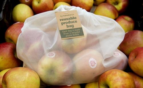 Sainsbury's sacchetti frutta riutilizzabili