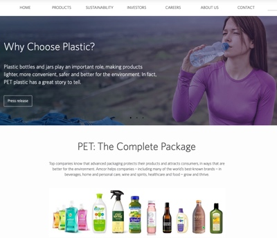 Amcor chose plastic