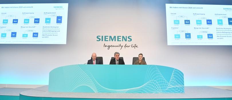 Siemens presentazione risultati