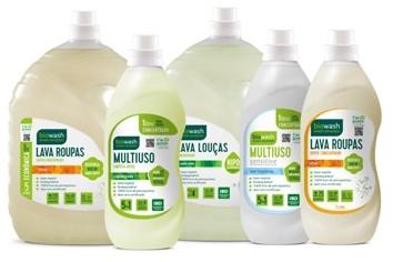 flacone biowash in PE verde + riciclato