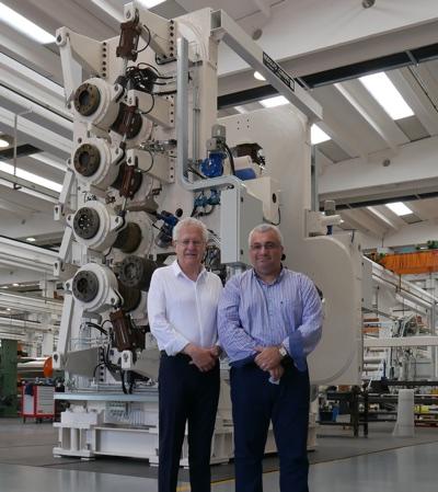 Carlo Comerio, Amministratore delegato di Rodolfo Comerio (a sinistra) con Antonino Crisafulli, Amministratore delegato di Tekni-Plex Gallazzi