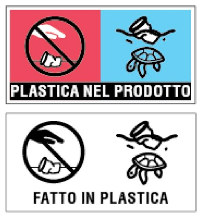 etichetta monouso plastica