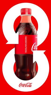 bottiglia rPET Coca-Cola