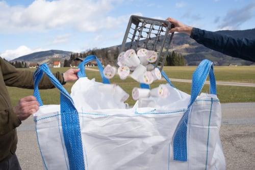 recupero vasetti pet scuola Austria