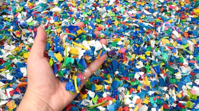 scaglie plastica
