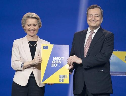 Maro Draghi e  Ursula von der Leyen