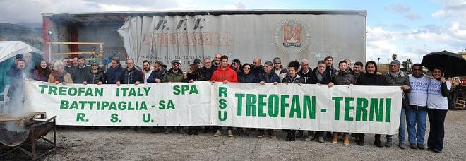 Treofan protesta lavoratori