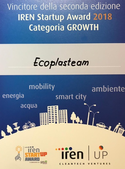 attestato premio Iren Ecoplasteam