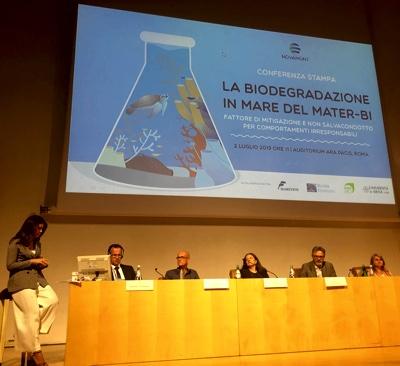 Novamont convegno biodegradazione mater-bi