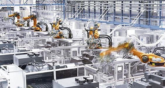 stampaggio con robot