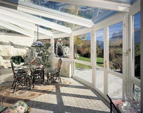 Veranda con profili PVC