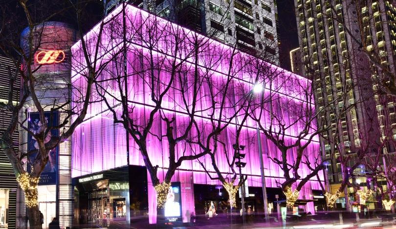 Victoria's Secret facciata Plexiglas