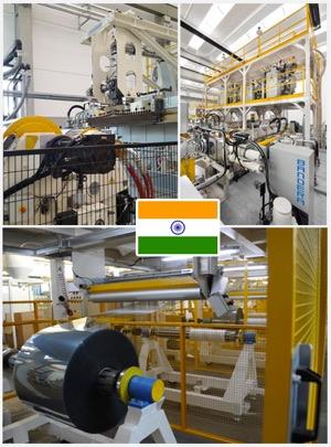Bandera foglia PET per India